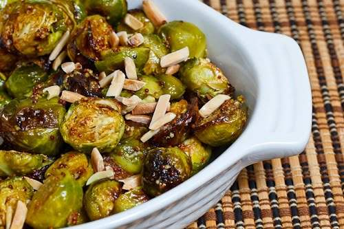 Gingered Brussels Sprouts with Almonds