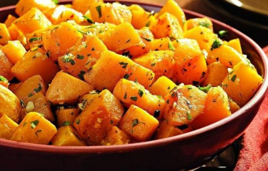 Oven-Roasted Butternut Squash with Garlic and Parsley